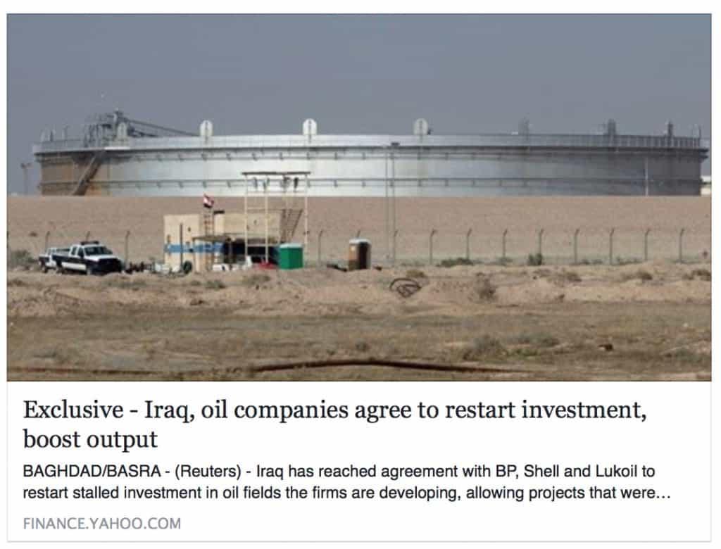 good news in iraq