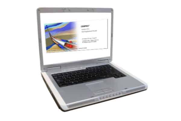 Cempro software on laptop